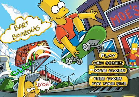 Bart Boarding משחקי סקייטבורד