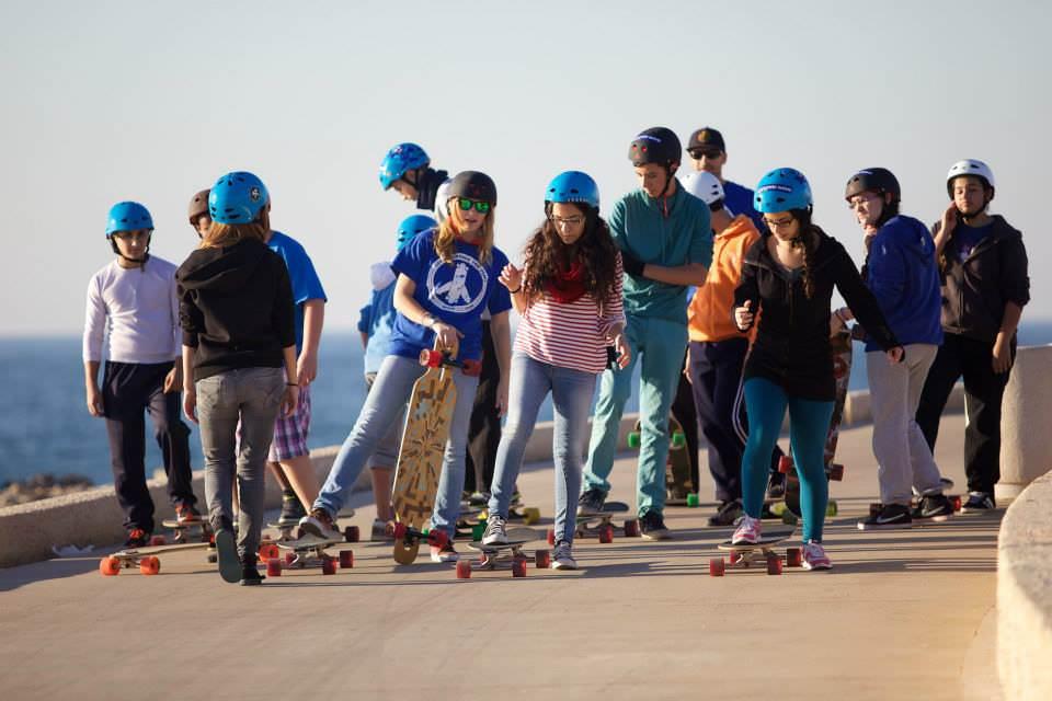 בני הנוער בהדרכה לקראת היציאה