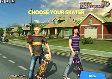 StuntSkateBaord3D משחק סקייטבורד