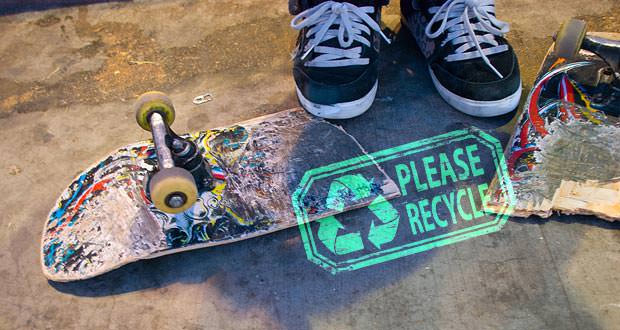 Recycled_Skateboard מיחזור סקייטבורד