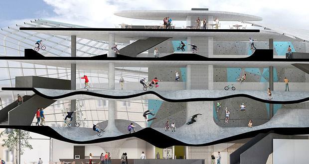 סקייטפארק בן 5 קומות שמתוכנן באנגליה
