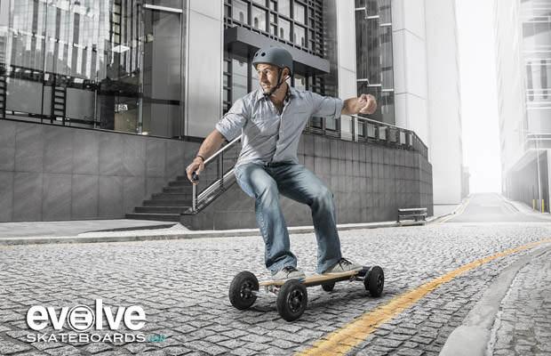 EvolveSkateboards סקייטבורד לונגבורד חשמלי